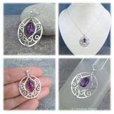 Amethyst Blossom Drop Pendant | JewelryLessons.com