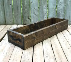 Rustic Reclaimed Wood Box Tray Centerpiece Metal by WildElmDesigns