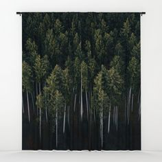 Aerial Photograph of a pine forest in Germany - Landscape Photography Window Curtains