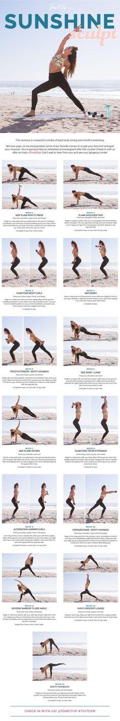 A little bit of total body toning... a little bit of yoga... #bikiniseries #challenge