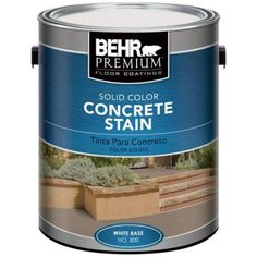 Recommended for cement counters: BEHR Premium, Semi-Transparent Concrete Stain, 85001 at The Home Depot - Mobile Concrete Stain Colors, Concrete Dye, Stained Concrete, Cement, White Concrete, Kitchen Countertop Materials, Concrete Countertops, Concrete Floors, Kitchen Countertops