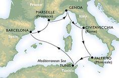 MEDITERRÁNEO, Barcelona,Francia,Italia, Túnez 7 noches Msc Splendida Salidas 6 y 13 Marzo 2015 Desde 299€