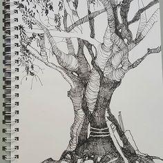 #temporarysketchbook #iamnotcezanne pre-time-universe #eucalyptus #metatropolis by #edvardadesign