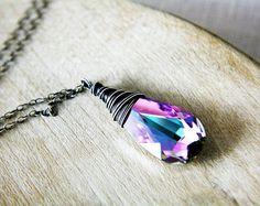 Gorgeous Swarovski wire-wrapped necklace