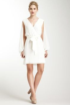ERIN by Erin Fetherston Cape Sleeve Wrap Dress