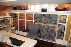 Lego Storage! Lego Room Build with Sliding Wall