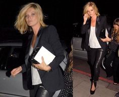 How to wear leather pants/leggings