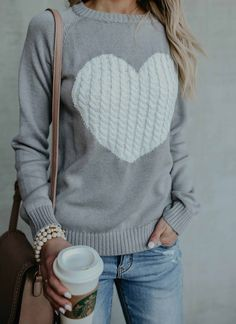 $38.99 ! Cute Heart Jewel Sweater fashion outfit sweater