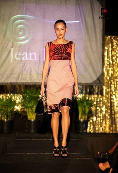 Teresa in a Jean Ragg piece at the Fiji Fashion Week Masters