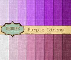 Purple Linen Texture Digital Paper by Origins Digital Curio on @creativemarket