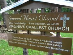 The Sacred Heart Chapel, Virginia's Smallest Church at Silver Hearth Lodge.
