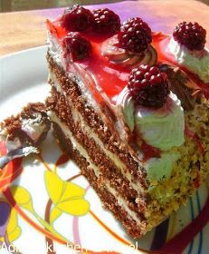 Adina's kitchen & travel: Tort cu crema de vanilie,frisca si mure Gordon Ramsay, Food Cakes, Tiramisu, Cake Recipes, Cheesecake, Ethnic Recipes, Desserts, Cakes, Tailgate Desserts