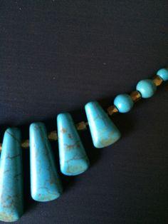 Ivory or Turquoise Stone Necklace