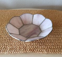 Pink Stained Glass Bowl