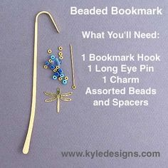 Beaded Bookmark Hook - Easy DIY Crafts Project | Kyle Design