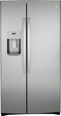 Shop GE 21.8 Cu. Ft. Side-by-Side Counter-Depth Refrigerator Stainless steel at Best Buy. Find low everyday prices and buy online for delivery or in-store pick-up. Price Match Guarantee. Counter Depth Refrigerator, Side By Side Refrigerator, Stainless Steel Refrigerator, French Door Refrigerator, Refrigerator Freezer, Slide Out Shelves, Glass Shelves, Door Storage