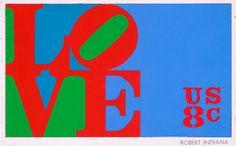 Robert Indiana- First Love Stamp Januar 26, 1973