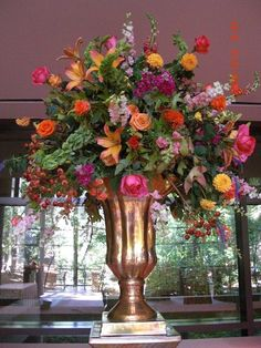 Beautiful Fall Arrangement by Lagniappe Designs in Birmingham