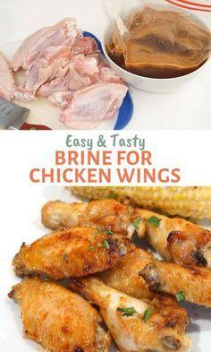 Brine For Chicken Wings Recipe, Chicken Wing Marinade, Marinated Chicken Wings, Air Fry Chicken Wings, Grilled Chicken Wings, Chicken Wing Recipes, Chicken Flavors, Brining Chicken, Smoked Wings