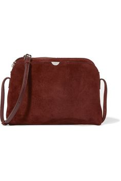 The Row - Multi Pouch Suede Shoulder Bag - Burgundy