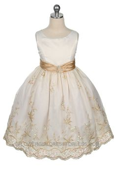 MB_161I - Flower Girl Dress Style 161- Ivory/Gold - Summer Dresses - Flower Girl Dress For Less#ad-image-0#ad-image-0#ad-image-0