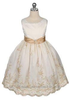MB_161I - Flower Girl Dress Style 161- Ivory/Gold - Summer Dresses - Flower Girl Dress For Less#ad-image-0#ad-image-0#ad-image-0