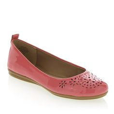 Not in the mood to wear wedges? Give your feet a break and throw on a chic pair of ballet flats. We love the pretty perforations and summery feel of this charming shoe.