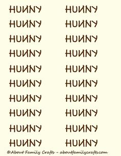 Printable Hunny Pot Label