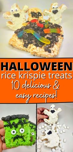 Halloween is a fun time full of spookiness and fun. Here are 10 Halloween Rice Krispie Treats recipes you can try this season. They are all quick, easy, and need no baking! #nobakedesserts #easydesserts #ricekrispietreats #halloween Halloween Rice Krispie Treat Recipe, Rice Krispy Treats Recipe, Rice Krispie Treats, Rice Krispies, No Bake Desserts, Easy Desserts, Easy Meals, Baking, Recipes