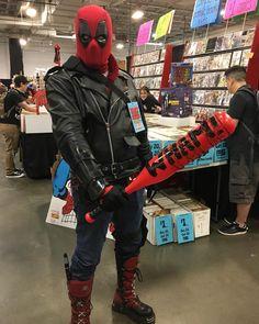 #NeganPool at #EastCoastComicCon! Dude had a mini boombox playing #EastStreet.  #Deadpool #Negan #Lucille #TheWalkingDead #TWD