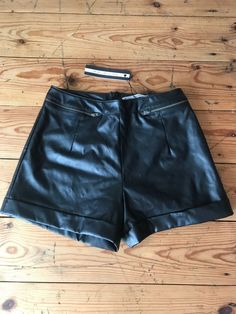 5ec8c8d1cb Black Millie Mackintosh Leather Look PU Shorts BNWT 10 #fashion #clothing  #shoes #accessories #womensclothing #shorts #ad (ebay link)