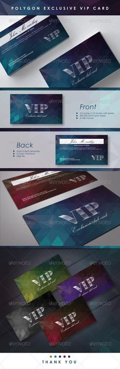 19 best vip card images on pinterest vip card business card polygon exclusive vip card template cards print invites maxwellsz