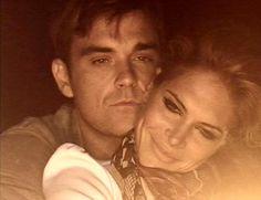 Robbie Williams & his wife, Ayda Field