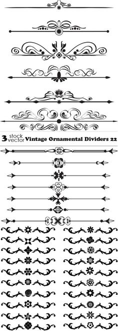 Vintage Ornamental Dividers 22