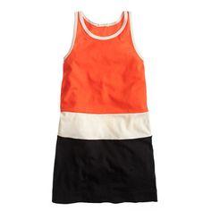 Girls' racerback tank dress in colorblock