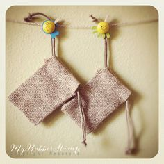 Burlap bags, perfect for packaging ♥ Maybe will just buy them 'stead of making them.
