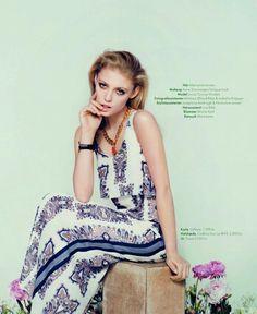 visual optimism; fashion editorials, shows, campaigns & more!: retro pa repeat: lucia jonova by olivia frolich for elle denmark april 2013
