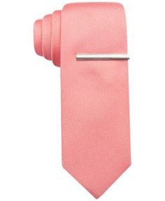 Dusty Pink. $24 Macy's Alfani Spectrum Textured Prom Solid Slim Tie, Only at Macy's