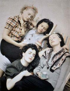 Lee Miller, Leonora Carrington, Ady Fidelin and Nusch Eluard. Photo By Roland Penrose