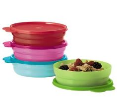 Tupperware | Microwave Cereal Bowls, great for left overs, cereal & more! www.twrocks.com