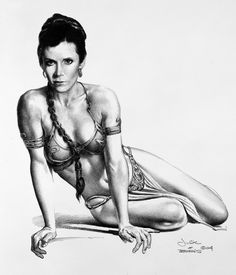 Star Wars - Slave Leia by Boris Vallejo