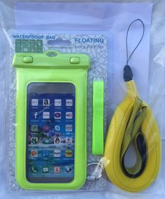 Sports Kit x 3: Waterproof Floating Mobile Phone Case Bag, Wrist Strap Camera Float and Sports Neoprene Sunglasses Retainer -Holiday Beach Fishing Camping - iPhone, Samsung, Go Pro.It's OUTDOOR BUDDY