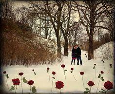 winter wedding proposal