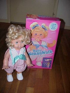 Baby Wanna Walk- OMG! I remember how bad I wanted this doll and when I finally got her, I never let her go