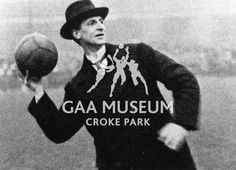 Eamon De Valera throwing in the football during a Republican Dependant's Fund Match at Croke Park