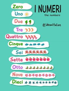 Tellen in het Italiaans #learnitalian