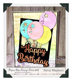 Birthday Cards created with the beautiful Paper Rose Studio prodcuts​