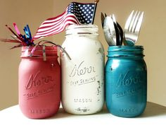Red White Blue Painted and Distressed Shabby Chic by BeachBlues, $13.00