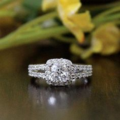 44f8aa1f0 12 Best Mowte Jewelry images | Halo rings, Wedding engagement ...