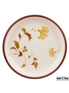 Buy Nayasa Mf Round Quarter Plate Dlx Set Of 6 Pcs, Brown-6056BR online at happyroar.com
